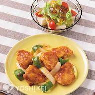 ソースで簡単!鶏肉のチリ炒め