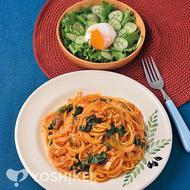 ツナと野菜のトマトソースパスタ