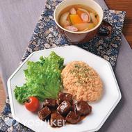 牛サイコロステーキ(食肉加工品)~ガーリックライス添え~