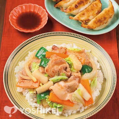 中華丼/レンジでジューシー餃子