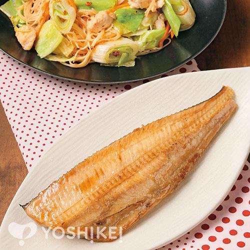 しまほっけのたまり醤油干し/鶏と野菜の香味炒め