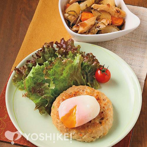 豆腐野菜ハンバーグ/刻み昆布と大根の煮もの