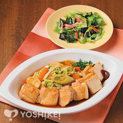韓国風鶏すき煮/かに風味あえ