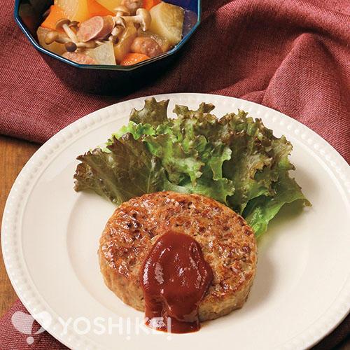 ふっくらジューシーハンバーグ/ウインナーと野菜の洋風煮