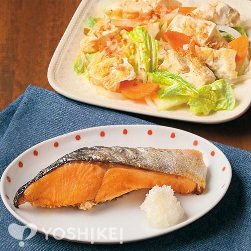 さけの塩焼き/豆腐のチャンプルー