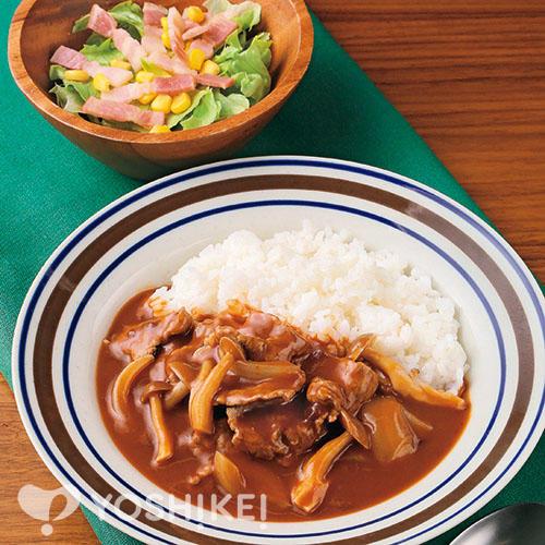 ハヤシライス/カリカリベーコンのサラダ
