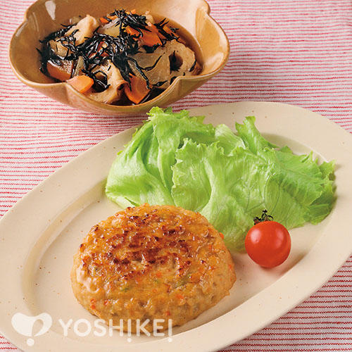 豆腐野菜ハンバーグ/ひじきと大根の煮もの