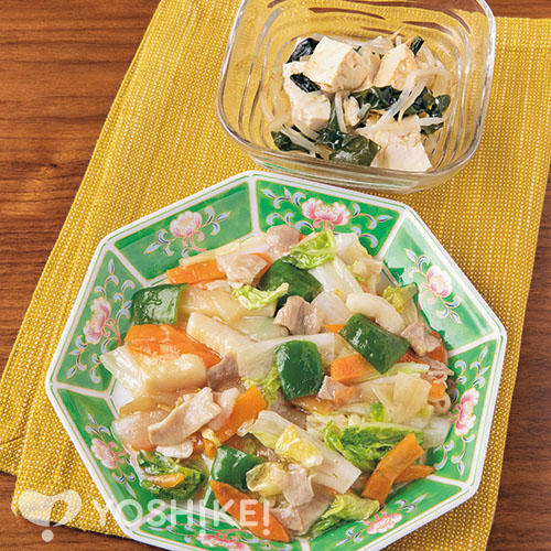 包丁いらず!八宝菜/くずし豆腐の中華あえ