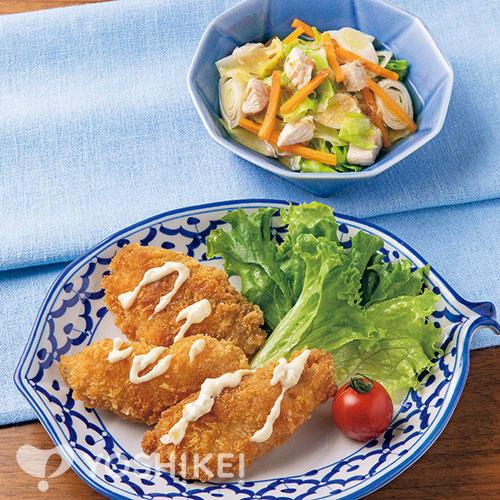 フライパンで簡単!白身魚フライ/鶏肉のあっさりおかか煮