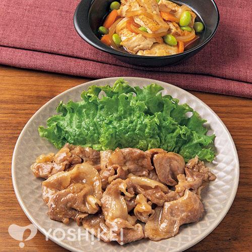 たれでラクラク♪豚肉のすりおろし生姜焼き/けんちん煮