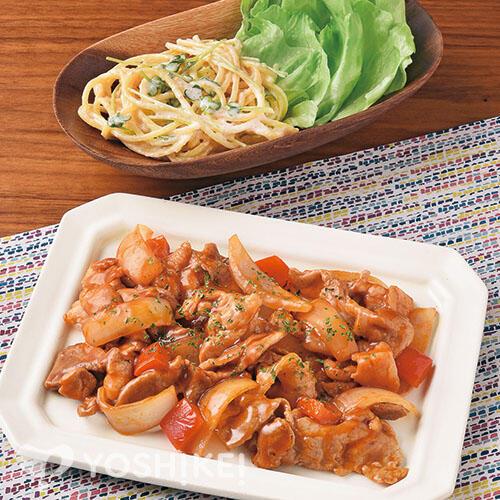 ポークケチャップ/明太スパゲティサラダ