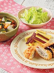 ミルフィーユとんかつ/豆腐の和風スープ/白菜のゆず香あえ
