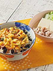 ラクラク海鮮かき揚げ丼/あっさり肉豆腐