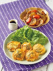 鶏肉の和風ピカタ/刻み昆布と根菜の煮もの