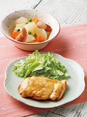コクうまチーズチキンステーキ/ウインナーと大根の洋風煮