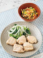 明太マヨチキン/カラフルマカロニサラダ
