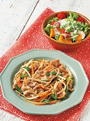 豚肉のスタミナ炒め/かぼちゃサラダ