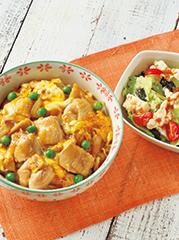とろとろたまごの親子丼/豆腐の梅おかかサラダ