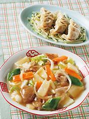 八宝菜/マヨぽん水餃子