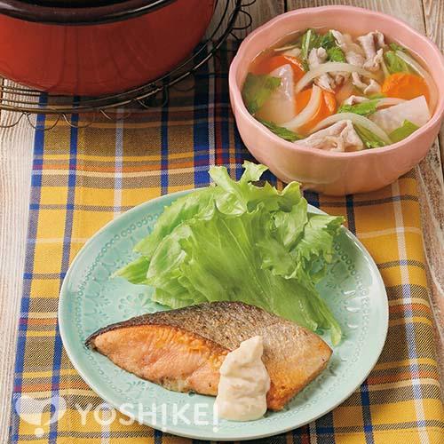 さけのムニエル~タルタルソース~/洋風豚汁