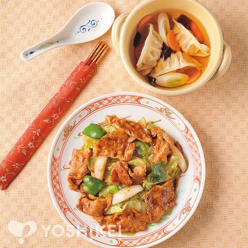 回鍋肉/水餃子スープ