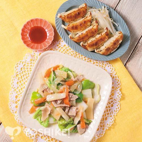 らくらく!八宝菜/レンジでジューシー餃子