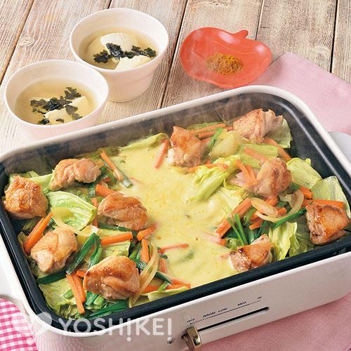 トリプル変化(へんげ)のタッカルビ/すくい豆腐のスープ