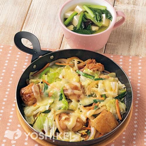 とろ~りチーズタッカルビ/豆腐のスープ