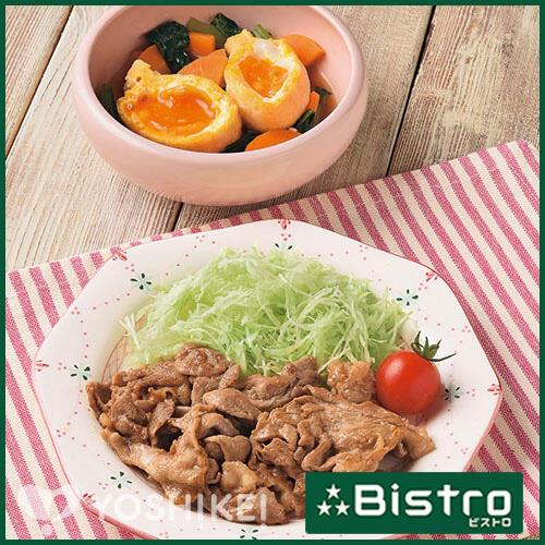 コクうまポーク焼き肉(ビストロ対応)/たまご巾着の煮もの