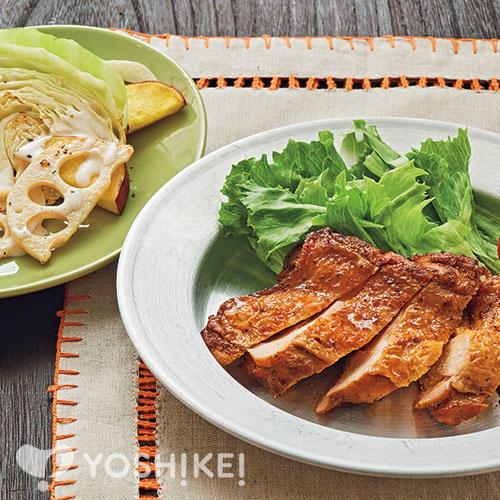 あぶり焼きタンドリーチキン/焼き温野菜サラダ