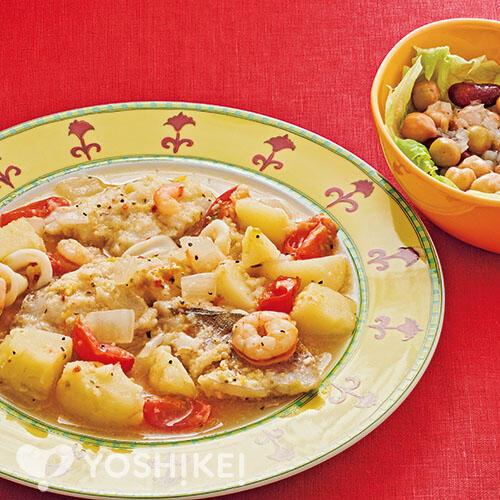 白身魚のスケット/Lovyuのビーンズマリネ