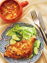 タンドリーチキン/インド風トマトスープ