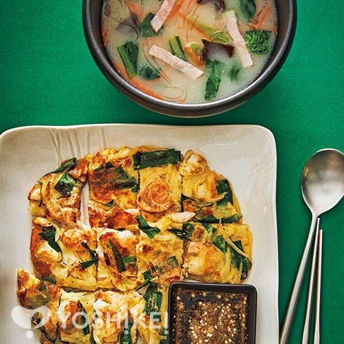 3種の海鮮チヂミ/ソルロンタン