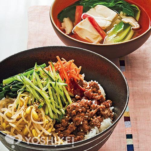 ビビンバ/くずし豆腐のスープ