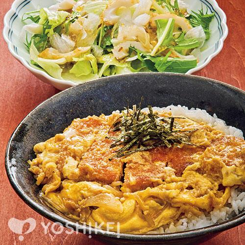 Lovyuのロースかつ丼/ひらひら大根の和サラダ
