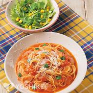 簡単!トマトスープスパゲティ