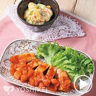 レンジで簡単!チキンステーキ~フレッシュトマトソース~