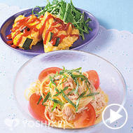 ツナとトマトの冷製スパゲティ
