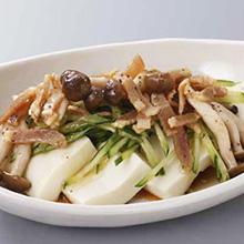 豆腐のベーコンドレッシング