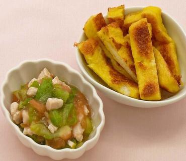 フレンチトースト・鶏肉と野菜のとろみ煮