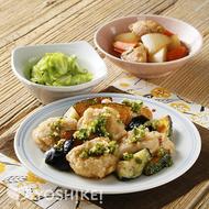 鶏と夏野菜の薬味じょうゆ