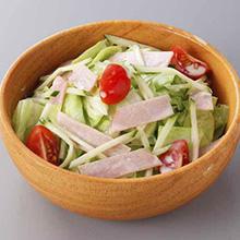 ハムとキャベツのサラダ