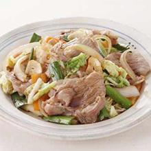 豚肉と白菜のにんにく炒め