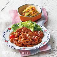 豚肉のすりおろし生姜焼き
