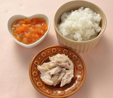 ぶりのムニエル・野菜のみそ煮・おかゆ