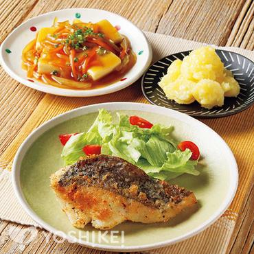 白身魚のパン粉焼き
