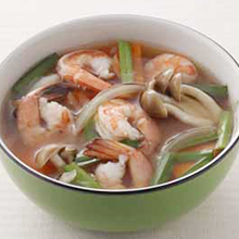 えびときのこのスープ