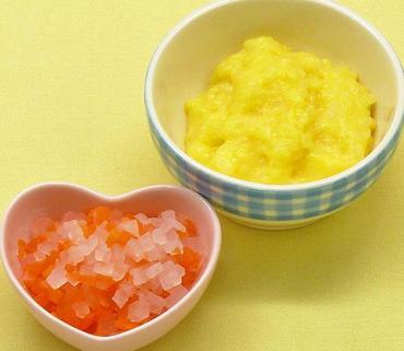 卵がゆ・玉葱と人参のやわらか煮