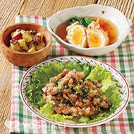カリカリ豚の葱ごまソース