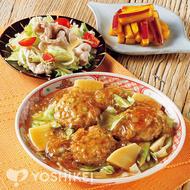 豆腐バーグの中華煮込み